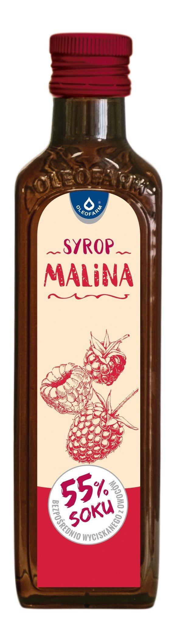 OLEOFARM, Syrop Malina (55% soku), 250ml.