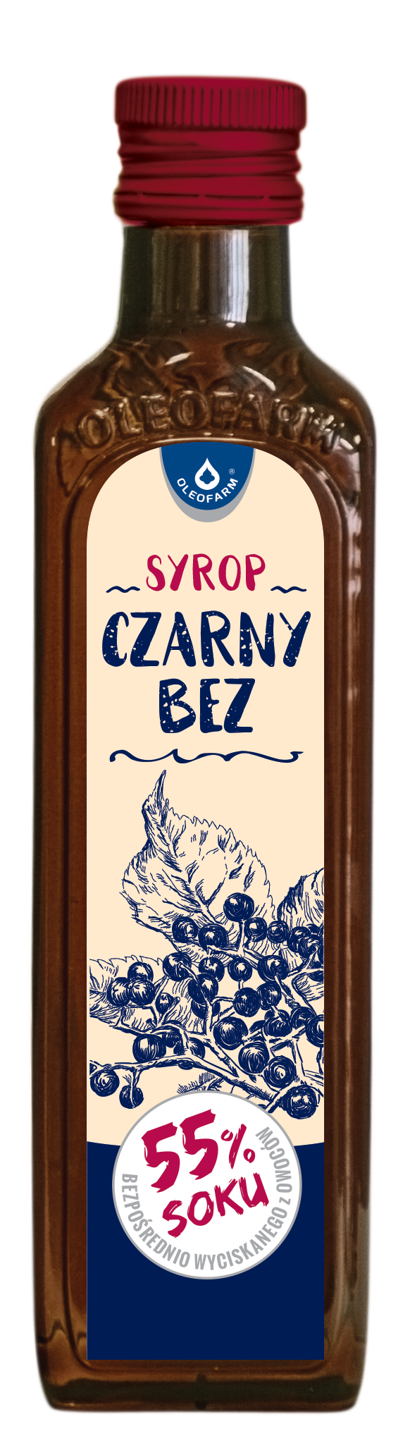 OLEOFARM, Syrop Czarny Bez (55%soku) 250ml.