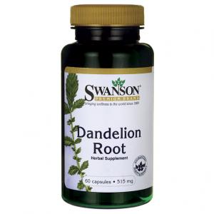 SWANSON, Dandelion Root, Mniszek lekarski 515mg, 60 kap.