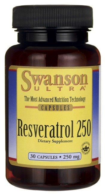SWANSON, Resveratrol 250mg, 30 kap