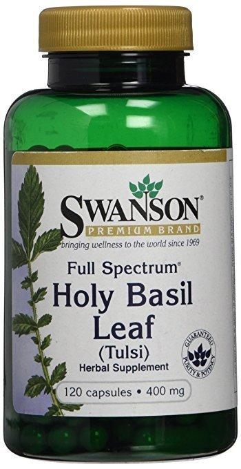 SWANSON, Full Spectrum Holy Basil, Liść bazylii 400mg, 120 kap.