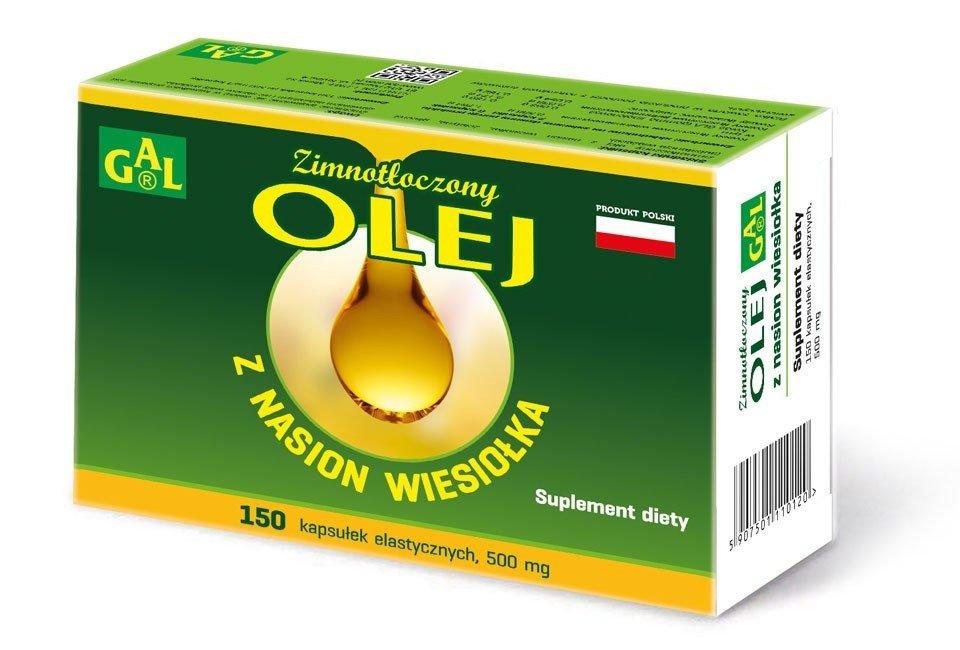 GAL Zimnotłoczony Olej z Nasion Wiesiołka 150 kap.