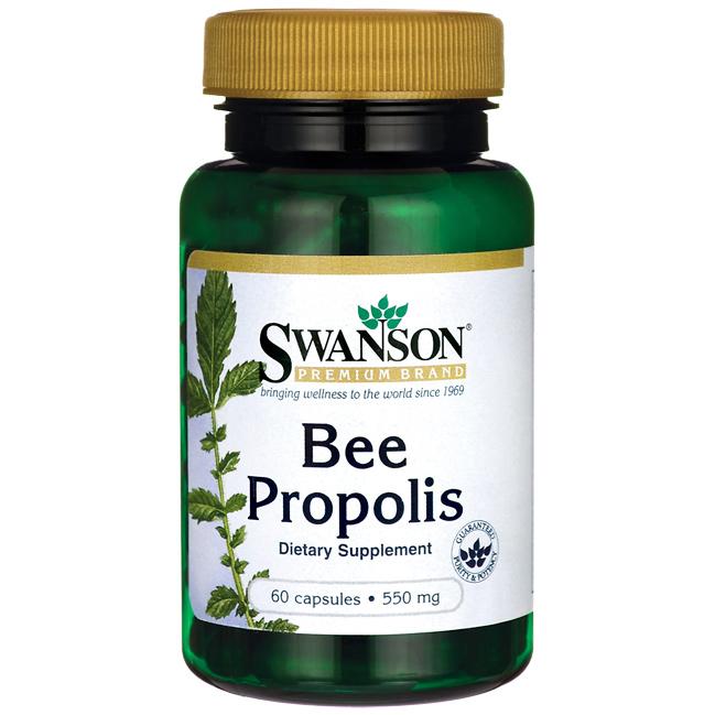 SWANSON, Bee Propolis, pyłek pszczeli 550mg, 60 kap.