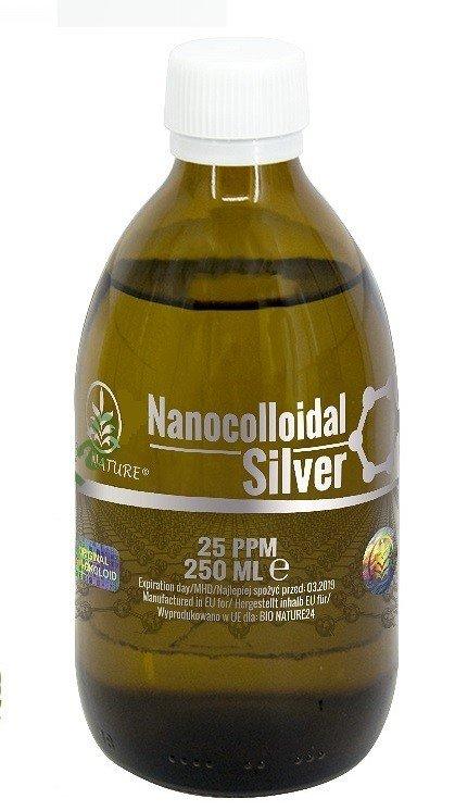 Srebro Nanokoloidalne - Koloidalne 25ppm. 250ml.