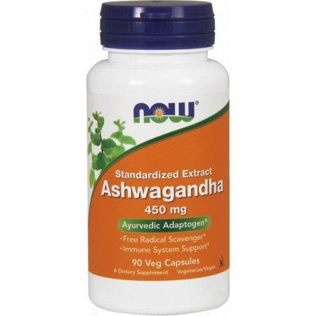 NOW FOODS, Ashwagandha Extract, 450mg, 90 kap.