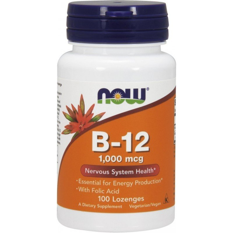 NOW FOODS, Witamina B-12, 1000mcg, 100kaps.