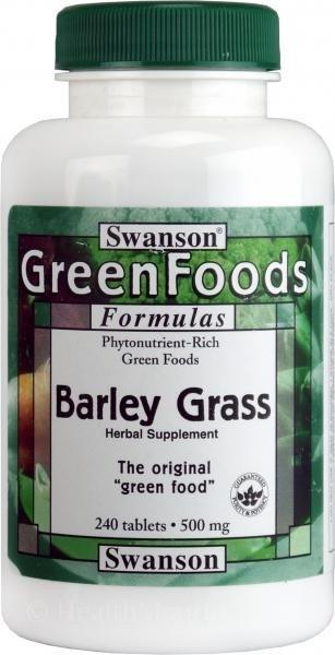 SWANSON, Barley Grass, 500mg, 240tabl.