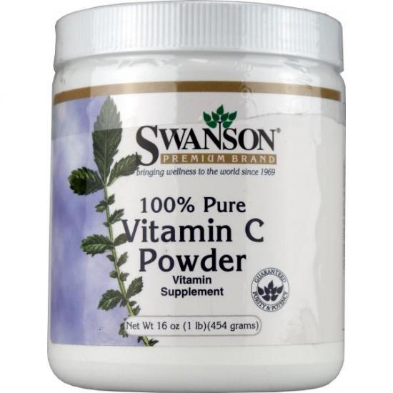Swanson, Witamina C-100% czystości, 454 g.