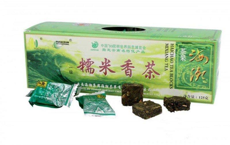 Meridian, Herbata zielona prasowana w kostkach, 125g.