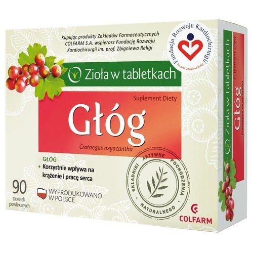 COLFARM, Głóg(zioła w tabletkach), 90 tabl.