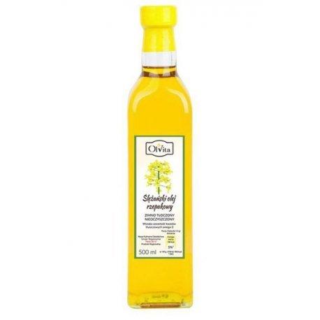 Olej rzepakowy extra tłoczony na zimno 500 ml