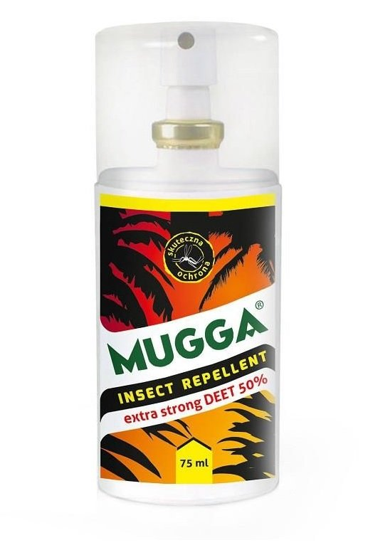 Repelent na owady Mugga Extra Strong spray 50% DEET (75 ml)