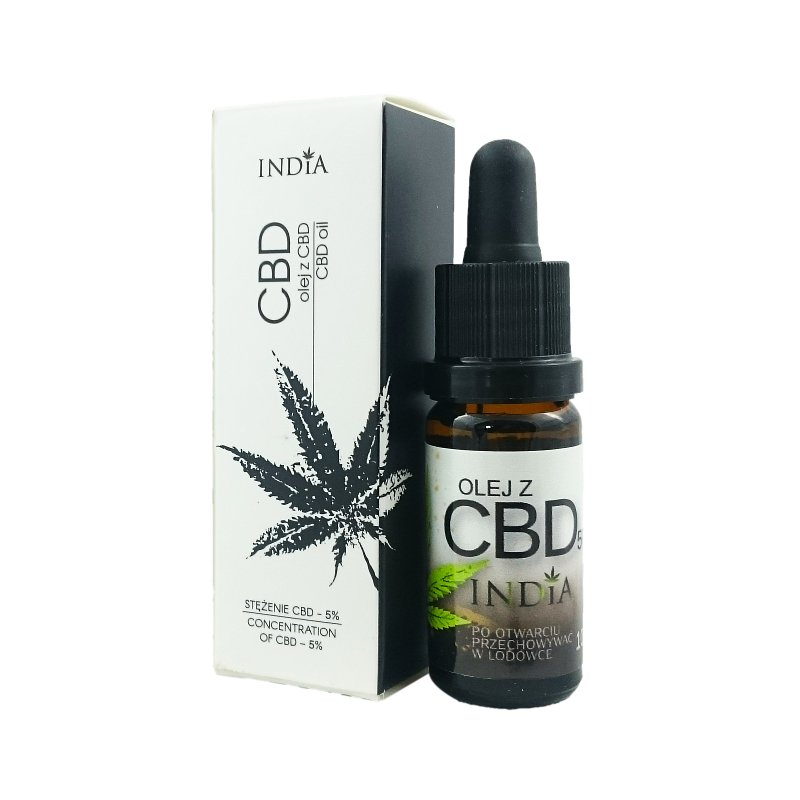 India Olej z CBD 5% - 10 ml
