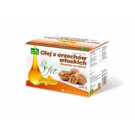 GAL, olej z orzechów włoskich tłoczonych na zimno, 40 kapsułek