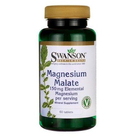 Jabłczan magnezu 150mg, SWANSON, 60 TABL