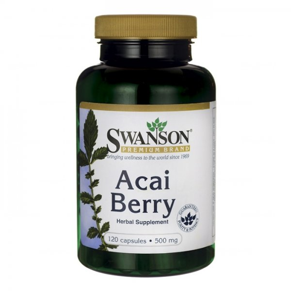 SWANSON, Acai Berry Extract, 500mg, 60kap.
