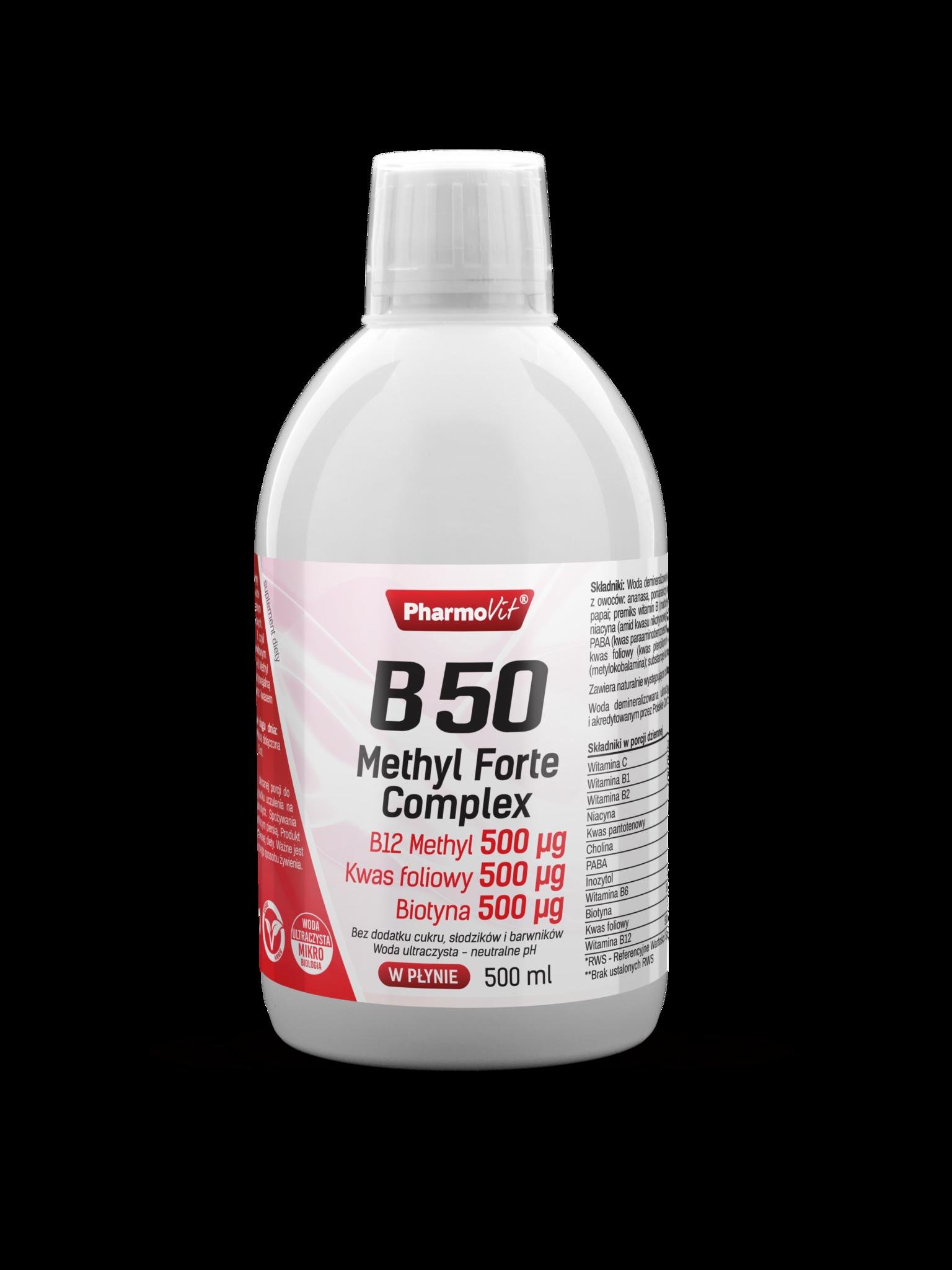 B12 Methyl Forte Witamina B12 1000 µg Metylokobalamina 500 ml