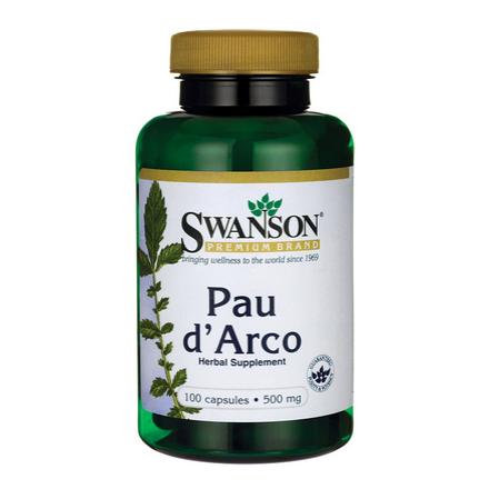 SWANSON, Pau Darco 500mg, Lapacho, 100 kapsułek