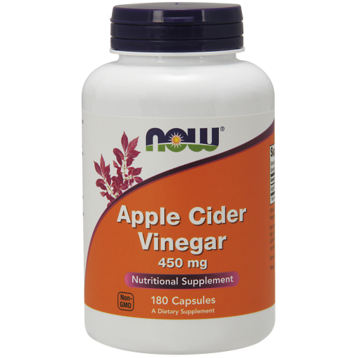 NOW FOODS Apple cider vinegar 450mg 180kaps.