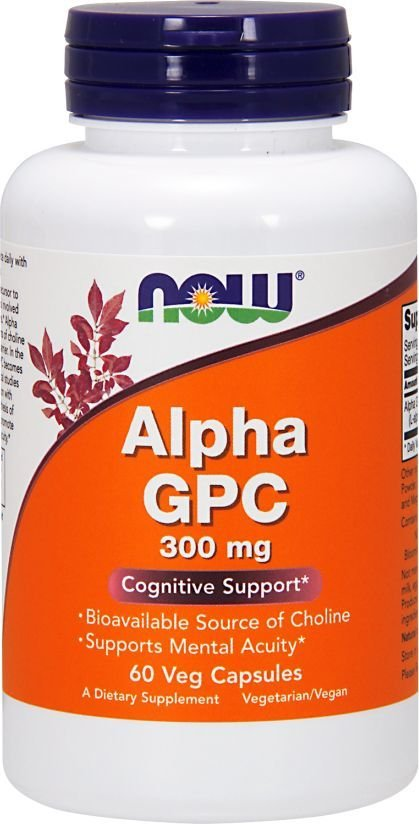 NOW FOODS ALPHA GPC 300MG 60KAPS.