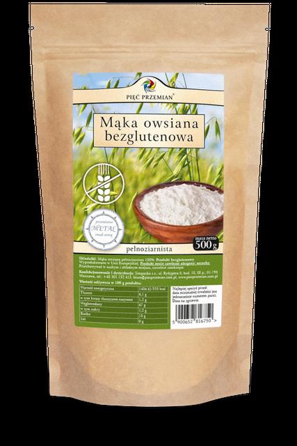 Mąka owsiana bezglutenowa 500 g