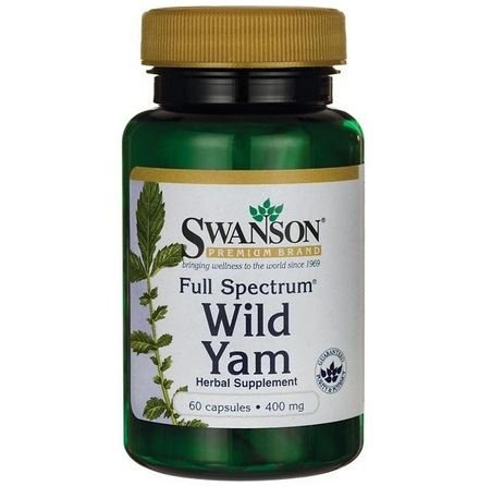 SWANSON Full Spectrum Wild Yam 400mg 60 kaps.