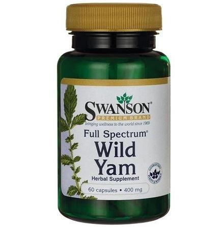 SWANSON Full Spectrum Wild Yam 400mg 60 kaps.