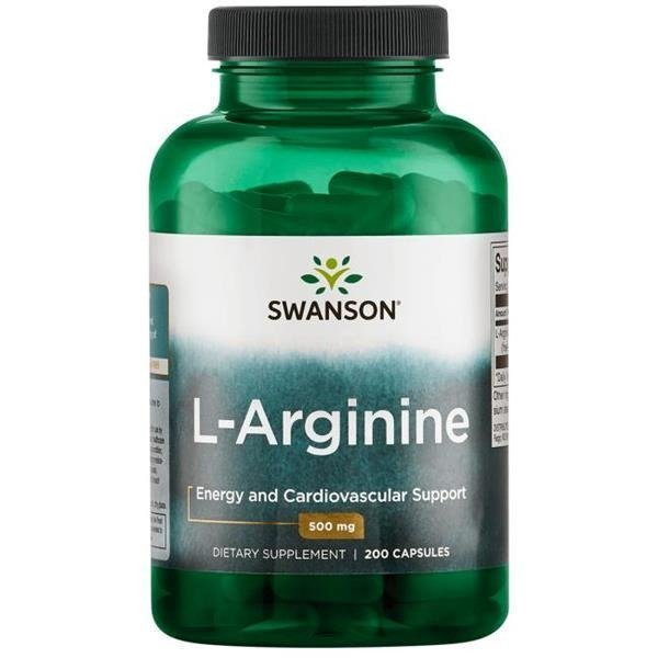 SWANSON L-Arginina 500 mg - 200 kaps.