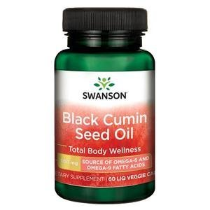 SWANSON Olej z nasion czarnego kminu 500 mg - 60 kaps.
