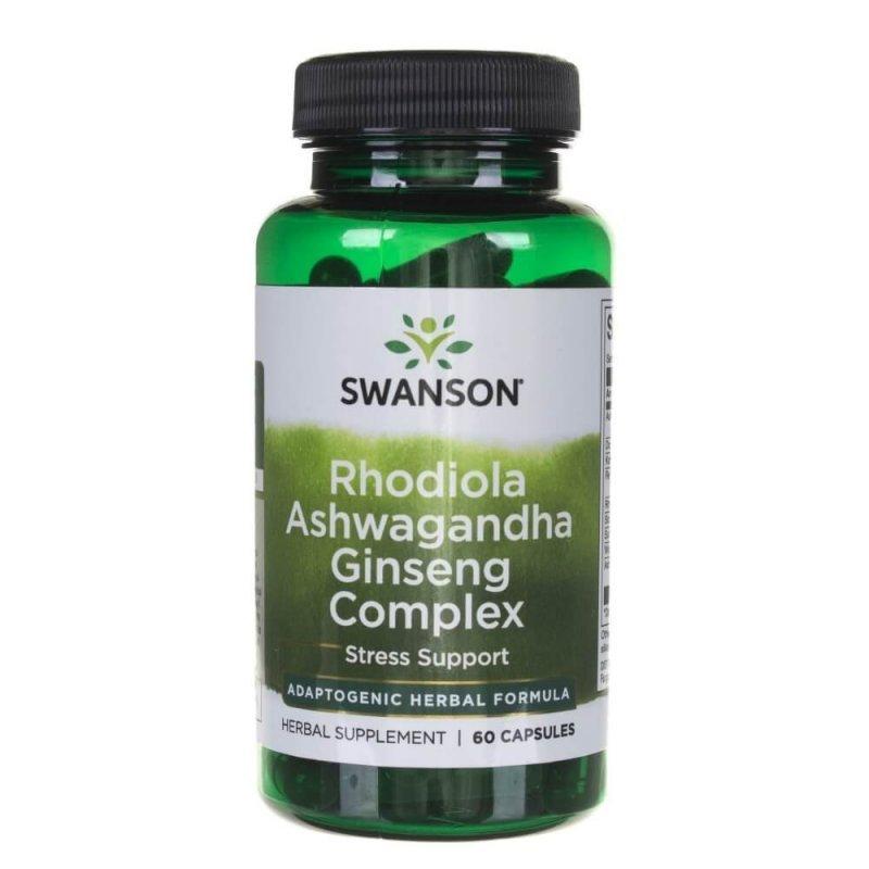 SWANSON Rhodiola Ashwagandha Ginseng Complex 60kap