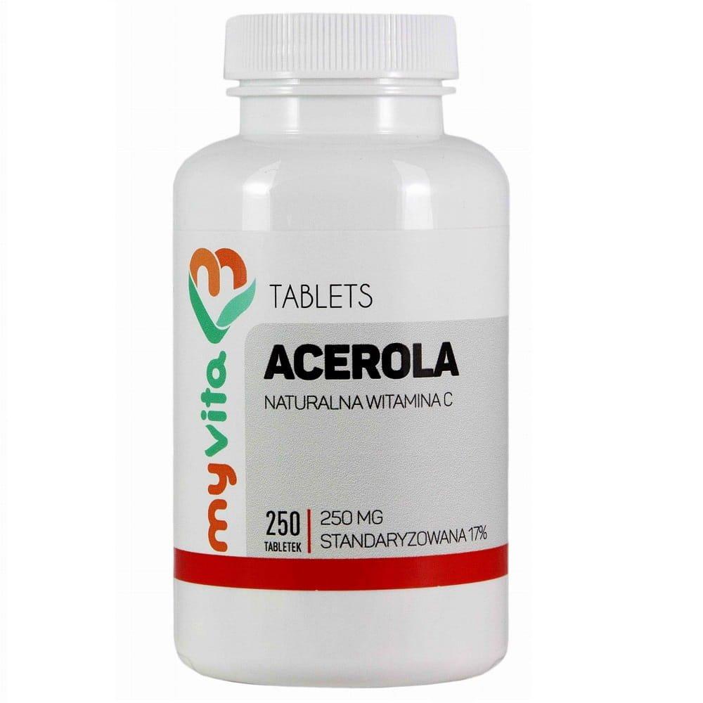 Acerola naturalna witamina C 250mg 250 tabletek MyVita