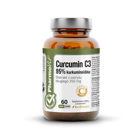 Curcumin C3 95% Kurkuminoidów 60 kaps Vcaps® Clean Label™ Pharmovit