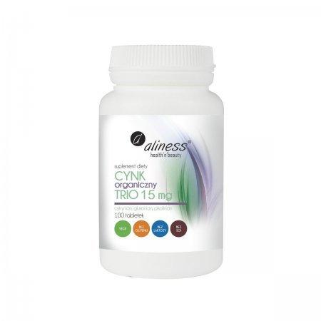 Cynk Organiczny Trio 15 mg 100 tabl. Aliness