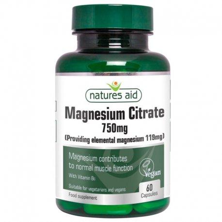 Cytrynian Magnezu 750mg 60 tabl. Natures Aid