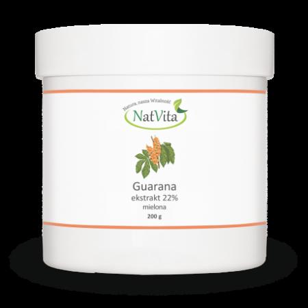 Guarana Ekstrakt 22% kofeiny ,proszek 200g. Nat Vita