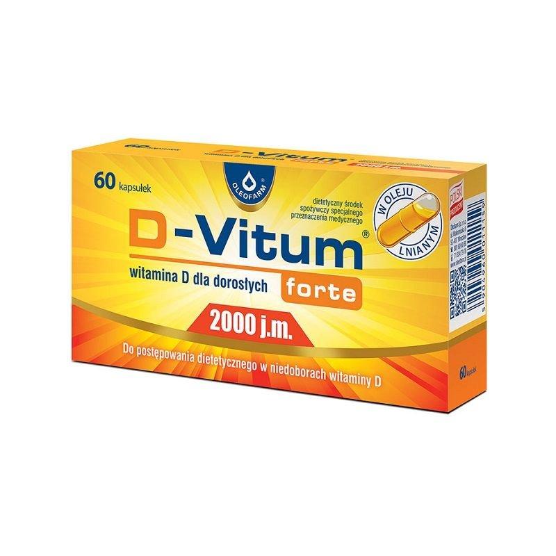 D-Vitum Forte Witamina D dla dorosł 30 kap