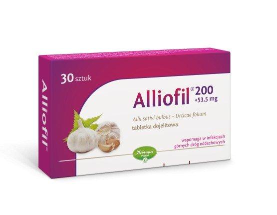 Alliofil tabl.powl. 0,2g+0,0535g 30 tabl.