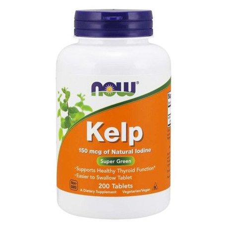 NOW Kelp 150 mcg 200 tabletek źródło jodu