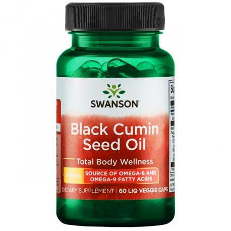 SWANSON Olej z nasion czarnego kminu 60 KAPS.